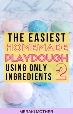 This is the easiest fun activity to try out with kids! This simple homemade playdough recipe is no bake, without cream of tartar AND uses only two ingredients! #playdoughrecipe #homemadeplaydough #playdough #clouddough #activitiesforkids #funactivitiesforkids #sensoryplay Craft Projects For Kids, Crafts For Teens, Diy For Kids, 3 Kids, Kids Crafts, Art Projects, Children, Koolaid Playdough, Homemade Playdough