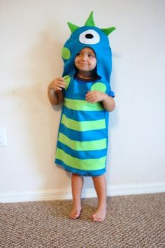 DIY monster costume for halloween. Looks easy enough to fo with felt and glue