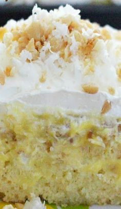 Hawaiian Pineapple-Coconut Poke Cake Recipe ~ simple to male... delectable!