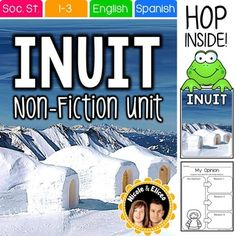 Inuit (Eskimo) nonfiction unit with reading passage, comprehension questions, vocabulary cards, graphic organizers, activities, and more!