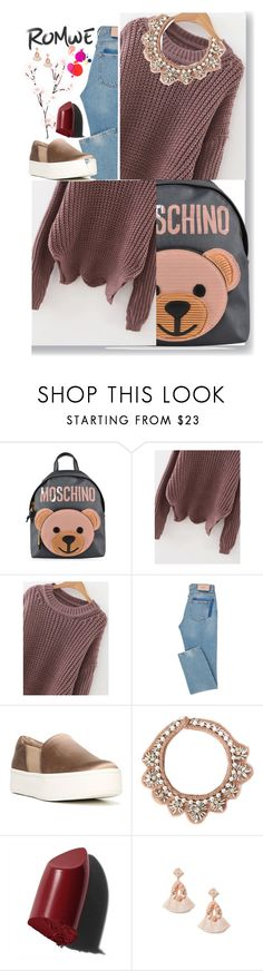 """""""Romwe"""" by eldinreham ❤ liked on Polyvore featuring Moschino, Vince, Mignonne Gavigan, Bobbi Brown Cosmetics and Miss Selfridge"""