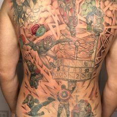 "Tattoo Potsdam Body Temple (@body_temple_potsdam) posted on Instagram: ""#marvel Fan #backpeacetattoo von #kathipotsdam @body_temple_potsdam"" • Sep 24, 2020 at 8:57am UTC Peace Tattoos, Body Is A Temple, Marvel Fan, Cover, Instagram, Potsdam"