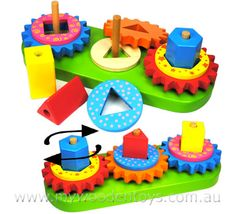 FUN FACTORY Stacking Wooden Gear + Blocks