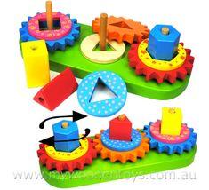 Stacking Wooden Geometric Gear Blocks - Eli Christmas. Love this website!