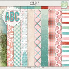 Gidget paper pack freebie from Gennifer Bursett