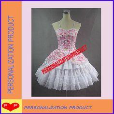 Sweet Gothic Lolita Cotton Cosplay Hello Kitty Pattern 1 Ballroom Corset Dress
