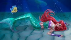 Ariel Awaits by kharis-art.deviantart.com on @deviantART little mermaid princess corset disney