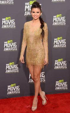 Julien macdonald gold mini dress