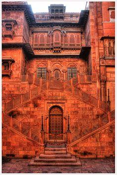 Junagarh Fort . Bikaner, Rajasthan India