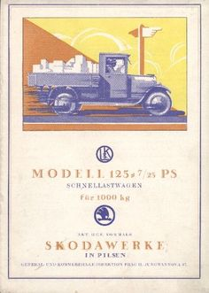 Skoda Ad Vintage Advertisements, Vintage Ads, Car Posters, Car Advertising, Old Cars, Tractors, Place Card Holders, Trucks, Vehicles