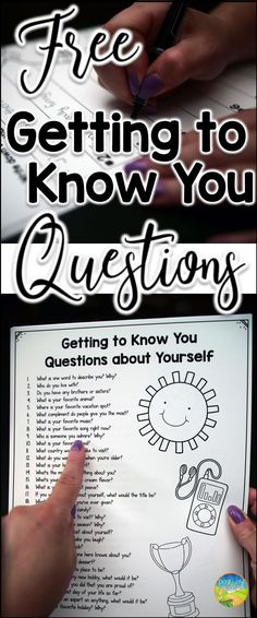 FREE getting to know you questions and student response sheet for a back to school activity.