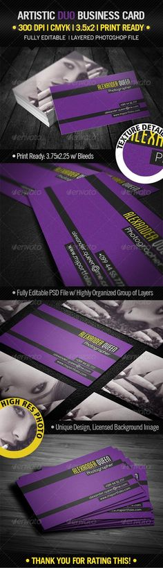 Artistic Duo Business Card