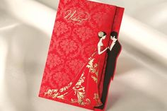 Cheap card safe, Buy Quality card test directly from China invitation card red Suppliers: Romantic Flower Printing Wedding Invitations 2015 Red Laser Cut Card Invitation with Envelope   Size: 12.