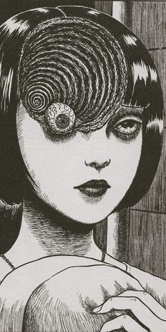 Horror comics by junji ito Art Sinistre, Bd Art, Junji Ito, Arte Horror, Horror Art, Psychedelic Art, Manga Gore, Bad Trip, Anime Quotes Tumblr