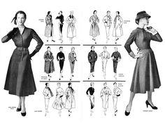 1954 - Dior, Lanvin, Balmain, Dessès, Madeline de Rauch, Fath. AAAH!