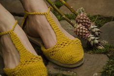 DIY Alpargatas de ganchillo · DIY Crochet espadrilles · Fábrica de Imaginación · Tutorial in Spanish