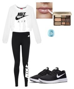"""""""Nike Workout"""" by drummin on Polyvore featuring NIKE, Too Faced Cosmetics and Eos"""