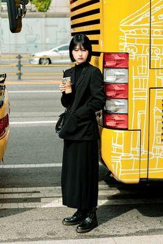 Seoul Fashion, Harajuku Fashion, Japan Fashion, Fashion Week, Winter Fashion, Fashion Outfits, Street Style Vintage, Asian Street Style, Japanese Street Fashion
