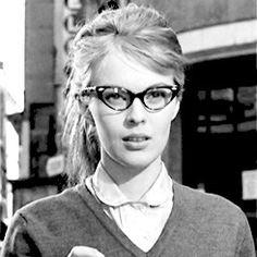 glasses In The French Style Jean Seberg
