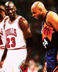 Michael Jordan and Charles Barkley