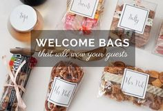 Ways to personalize your Wedding Welcome bags, keep them consistent with your wedding theme and colors, the prep process and ideas for what to put in them!