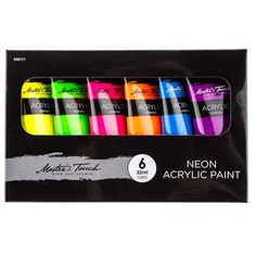 Neon Acrylic Paint Set @ Hobby Lobby $7.99