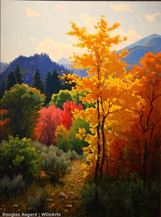 I search for the spirit or emotion a subject evokes in me, and strive to find a way to put it on canvas. It's often a magical process. art design landspacing to plant Watercolor Landscape, Landscape Paintings, Watercolor Paintings, Landscapes, Oil Paintings, Autumn Painting, Acrylic Art, Tree Art, Beautiful Paintings