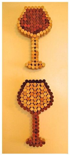 Wine cork idea - takes 107 corks each (103 wholes, 4 halved)