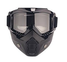 Motorcycle Goggles with Detachable Mask