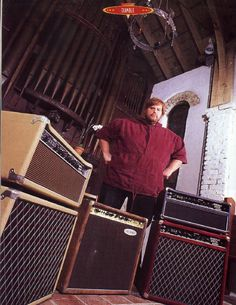 Alexander Dumble and a few of his amps