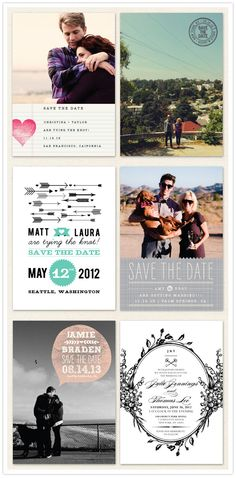 Save the Date ideas