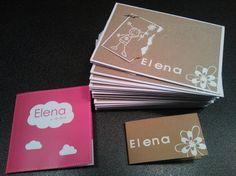 Elena's bedank geboortegeschenkkaartjes