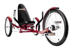 Mobo Triton Pro The Ultimate Adult Three Wheeled Red Cruiser_bike_exercise_travel_fun Trike Bicycle, Cruiser Bicycle, Recumbent Bicycle, Cycling Equipment, No Equipment Workout, Adult Tricycle, 3rd Wheel, Sports Toys, Red