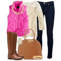 Love the colors of this outfit but since I have broad shoulders, would never wear a boat-neck!