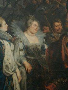 """La reine Marguerite imaginée par Rubens au sacre de Marie de Médicis (vers 1622-1625)- La réconciliation: Henri songe à épouser sa maîtresse, Gabrielle d'Estrées, mère de son fils César. Marguerite refuse de cautionner un remariage déshonorant et lourd de risques politiques avec cette """"bagasse"""" (femme de mauvaise vie""""). Elle exige que la future épouse soit """"une princesse de qualité"""" mais après la mort providentielle de Gabrielle dans la nuit du 9 au 10 avril 1599 elle revient sur ses…"""