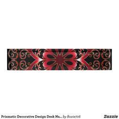 Prismatic Decorative Design Desk Nameplate