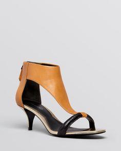 f727334b73f Kenneth Cole Open Toe Sandals - Havemeyer Kitten Heel Low Heels