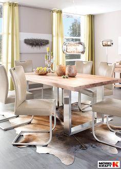 tisch und freischwinger entdeckt bei m bel kraft esszimmer dining room pinterest. Black Bedroom Furniture Sets. Home Design Ideas