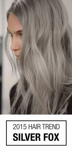 Remember when clients just wanted to cover grey hair? Nowadays, all ages are embracing their inner Silver Fox! #silverhair #haircolor #trend