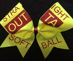 Straight Outta Softball Bow by BOWSandBALLERS on Etsy