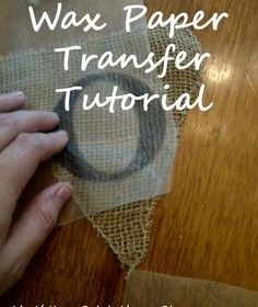 Diy- Print On Wax Paper And Transfer Right Onto Fabric, Burlap, Etc.~ A Great Way To Make A Banner, Flag, Etc. For A Party Or Shower.
