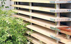 Chelsea Flower Show 2009: Horizontal, sanded scaffold boards arranged like shelves