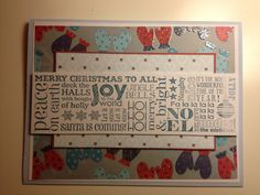 Scrapbooking card christmas joy