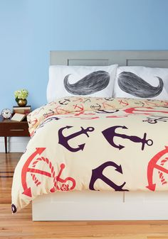 Whisker Me to Sleep Pillowcase Set. You may drift off to dreams of crossing the desert in cinematic Western chase, performing as a daredevil of the vaudeville days, or dressing the world as historys most beloved haberdasher, but your character is always distinguished with a magnificent mustache! #white #modcloth