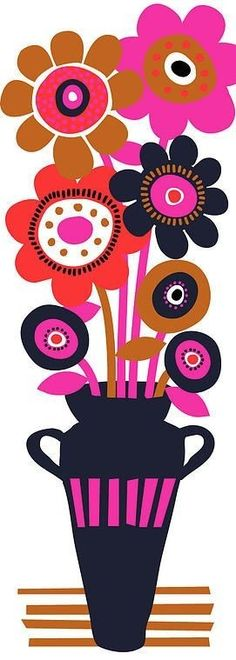 Design, pattern, colour Textile and surface pattern design Illustration Blume, Floral Illustrations, Surface Pattern Design, Painting Patterns, Textile Patterns, Oeuvre D'art, Creative Art, Flower Art, Art For Kids