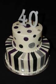 Birthday cake ideas Fondant strikken taart Pinterest
