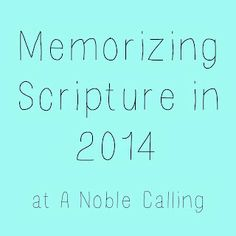 How I Plan to Memorize Scripture in 2014