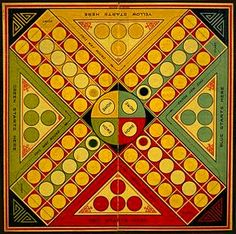 Ludo. Popular board game in England 1920's. Chad Valley Company Limited (manufacturer)