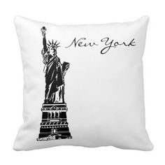 Black and White New York Passport Pillow Pillow #zazzle #pillow #newyork #passport