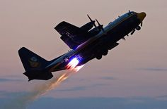 Jet Assisted Takeoff Off of Blue Angels C-130
